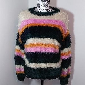 Woven Hearts Furry sweater.